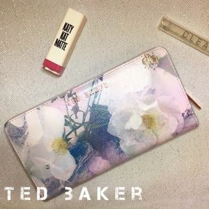 Ted Baker Long Floral Pink Wallet Clutch Leather